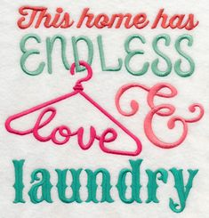 Endless Love and Laundry design (L4206) from www.Emblibrary.com