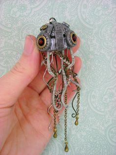 Steampunk Jellyfish. Isn't it cuuuuutteeee!?!