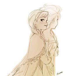 Nyamo ❄ 🌻 on illustration / concept art / character design f Frozen Disney, Disney Magic, Anna Y Elsa, Frozen Elsa And Anna, Disney Princes, Disney Movies, Disney And Dreamworks, Disney Pixar, Frozen Fan Art