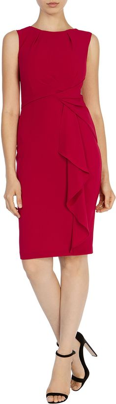 Womens raspberry curve crepe dress from Coast - £119 at ClothingByColour.com Crepe Dress, Peplum Dress, Winter Typ, Jewel Tone Colors, Professional Wear, Winter Makeup, Saturated Color, Cool Tones, Polished Look