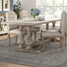 Cozy Rustic Farmhouse Dining Room Makeover Ideas – Best Home Decor Ideas French Country Dining Table, Farmhouse Dining Room Table, Reclaimed Wood Dining Table, Country Dining Rooms, Dining Table Design, Dining Room Furniture, Rustic Farmhouse, Bar Furniture, Designer