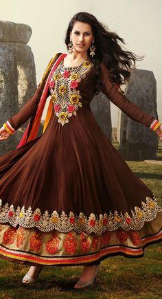 Exquisite Saddle Brown #Salwar #Kameez