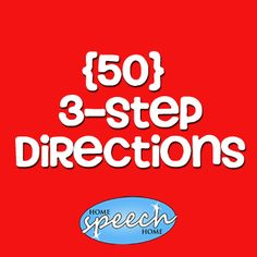 3 Step Directions for Speech Therapy Practice - repinned by @PediaStaff – Please Visit ht.ly/63sNtfor all our pediatric therapy pins