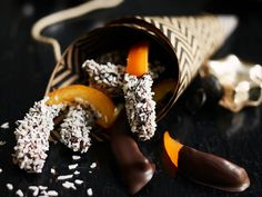 Kandisert appelsin- og sitronskall