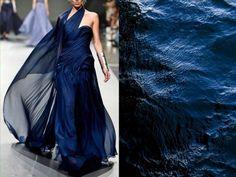 Ezra S/S 2014 & Sea surface. Photo by Kara Rosenlund. Collage by Liliya Hudyakova