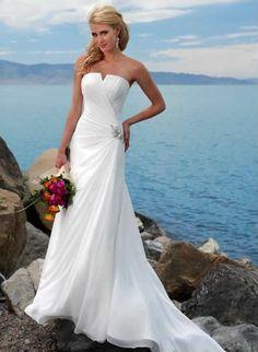 cheap beach wedding dresses