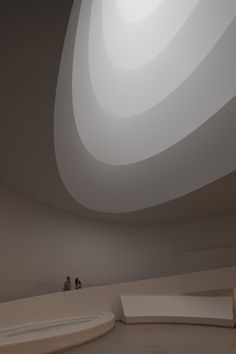 "James Turrell At The Guggenheim: The Architecture Of Light.  ""James Turrell (born May 6, 1943) is an American artist primarily concerned with light and space. Turrell was a MacArthur Fellow in 1984. Turrell is best known for his work in progress, Roden Crater, a natural cinder cone crater located outside Flagstaff, Arizona that he is turning into a massive naked-eye observatory."""