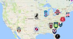 2021 USL League One Map Soccer League, Sports Logo, Team Logo, North America, Logos, Club, Maps, Football Team, Logo