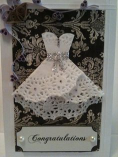 Doily Dress Card - I love this!