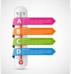 Infographics thermometer with multi-colored vector Infographic Website, Circle Infographic, Infographic Templates, Infographics, No Cell Phone Sign, Free Vector Images, Vector Free, Smoke Vector