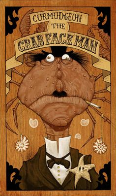 Crab Face Man by Gris Grimly