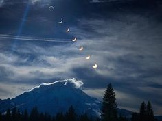 Multiple Exposure Picture of a Solar Eclipse in California