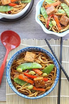 Vegetable Lo Mein with Tofu
