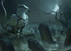 Silverclaw Griffin, an art print by Daniel Ljunggren - INPRNT