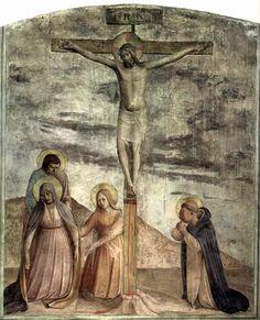 ANGELICO, FRA Vicchio di Mugello, Florencia, 1395 – Roma Cristo Crocifisso con la Madonna e Santi c. 1437-1446. Fresco. 174 x 152 cm. Museo di San Marco, Florence.