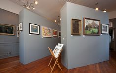 Andelli Art Gallery in Wells, Somerset, featuring an oil on board by artist Albert Belasco b1938