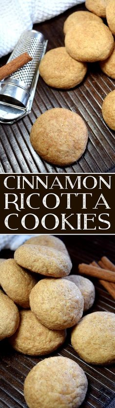 If you lived in the Thomas-Ewing household, you would either already love the taste of cinnamon, or you'd have to learn to love it, or you'd have to move out. Cinnamon Ricotta Cookies are delightfully light and very cinnamon-y. Cookie Desserts, Just Desserts, Delicious Desserts, Dessert Recipes, Cookie Table, Delicious Cookies, Healthy Cookies, Breakfast Recipes, Yummy Food