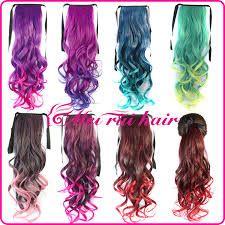 Resultado de imagen para extensiones de pelo de colores