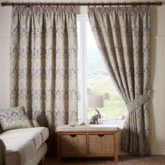Lucetta Mauve Pencil Pleat Curtains | Dunelm I really like these for the living room.