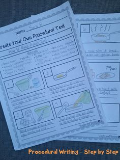 Procedural Writing - Step-by-Step. Great way for students to evaluate real-world procedural writing samples and to create their own procedural text. Includes template, sample, rubrics, topic ideas, and more. $4