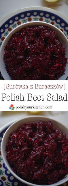 Polish Beet Salad {Surówka z Buraczkow} www.polishyourkitchen.com