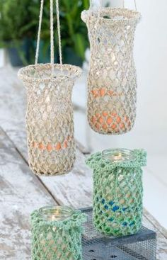 Hanging Luminaries - crochet free pattern