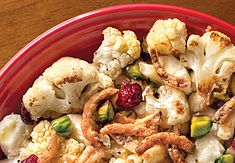 Roasted Cauliflower with Cranberries
