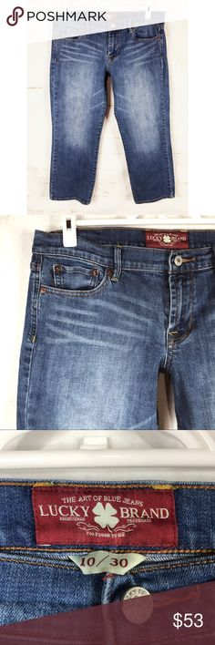 Lucky Brand Sweet'N Crop Woman's Size 10 Jeans Excellent used condition  See pictures for material and measurements  No rips, tears or stains. Lucky Brand Jeans Ankle & Cropped