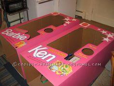 Coolest DIY Barbie and Ken Couple Costume...