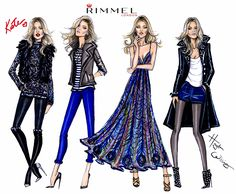 Updated Kate Moss illustrations for Rimmel London 'Idol Eyes' collaboration by Hayden Williams