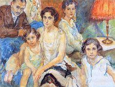 Family of Artist Janos Plesch by Max Slevogt