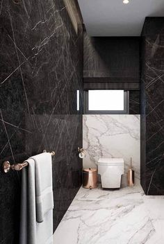 You Need These Marble And Rose Gold Items For Your Home – Bathroom – Marble Bathroom Dreams Industrial Bathroom Design, Modern Luxury Bathroom, Bathroom Design Luxury, Modern Bathroom Design, Small Toilet Room, Toilet Design, Luxury Home Decor, House And Home Magazine, Bathroom Inspiration