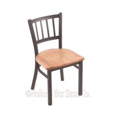 Holland Bar Stool Contessa Side Chair Upholstery: Natural Oak, Base Finish: Pewter