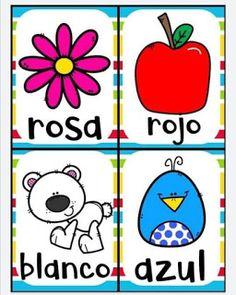 Juego bingo de los colores para aprender los colores Color Activities, Toddler Activities, Cardboard Recycling, Flashcards For Kids, Elementary Spanish, Games For Kids, Kid Games, Kindergarten, Homeschool