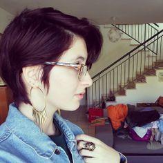 Purple Pixie Cut, Short Hair