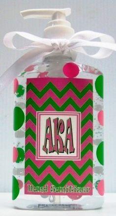 Jodi's Accessories - Alpha Kappa Alpha Chevron With Polka Dots Hand Sanitizer, $6.00 (http://www.jodisaccessories.net/products/alpha-kappa-alpha-chevron-with-polka-dots-hand-sanitizer.html)