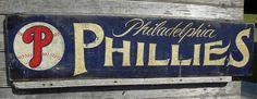Philadelphia Phillies baseball Signoriginal by ZekesAntiqueSigns