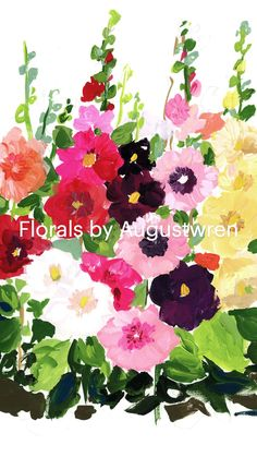 Watercolor Art Lessons, Watercolor Painting Techniques, Gouache Painting, Watercolor Projects, Floral Watercolor, Simple Watercolor Flowers, Easy Flower Painting, Flower Painting Canvas, Flower Paintings