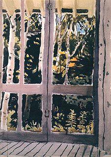 Fairfield Porter (1907-1975), The Door to the Woods (1971,  watercolor, 71x58cm)