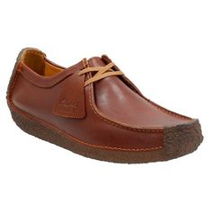 Men's Clarks Originals 'Natalie' Moc Toe Derby ($140) ❤ liked on Polyvore  featuring men's fashion, men's shoes, men's oxfords, chestnut leather, mens  ...