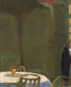 Paul Wonner - The Waiter, 1967. Oil on board