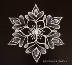 Daily Kolam Design With Dots Rangoli Designs Simple Diwali, Simple Rangoli Border Designs, Indian Rangoli Designs, Rangoli Designs Flower, Free Hand Rangoli Design, Rangoli Patterns, Small Rangoli Design, Rangoli Designs With Dots, Rangoli With Dots