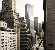 Proposal for 425 Park Avenue Tower in Manhattan by OMA