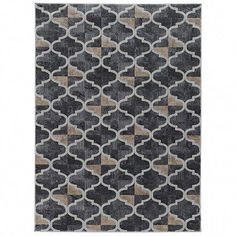 Radici USA Iseo Gray Indoor Moroccan Area Rug (Common: 5 x Actual: W x L) at Lowe's. This contemporary design features a pattern of modern geometric motifs in various colors to suit any space. The dominant grey base is filled with Traditional Interior, Modern Traditional, Moroccan Area Rug, Cheap Rugs, Blue Carpet, Machine Made Rugs, Round Rugs, Make Design, Modern Rugs