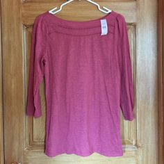Loft 3/4 sleeve top Pretty 3/4 sleeve loft top. Two lace cut out strips around neck. Size medium nwt LOFT Tops Tees - Long Sleeve