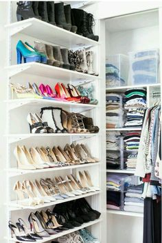 The Shoe Library @FoxInFlats | elfa Closet | Pinterest | Organizations Organizing and Storage & The Shoe Library @FoxInFlats | elfa Closet | Pinterest ...