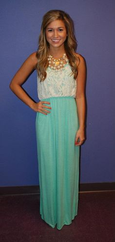 Definitely just ordered this lace + mint maxi for myself...