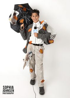 Weather Man Halloween Costume DIY  www.sophiajohnsenphotography.com