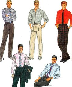 Mens Pants Simplicity 8784 1980s Mens Dress or by paneenjerez, $9.00