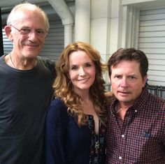 Michael J. Fox, Christopher Lloyd, and Lea Thompson